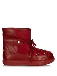 Moncler Fanny Quilted Apres Ski Boots Dark Red
