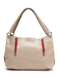 Mara Mac Leather Tote Bag Nude And Neutrals