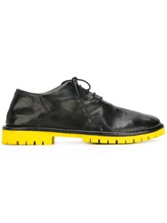 Marsell Contrasting Sole Derby Shoes Black