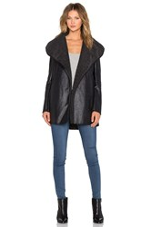 Sam Edelman Sydney Hooded Coat Black
