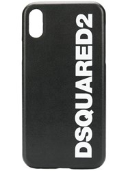 Dsquared2 Logo Print Iphone X Case Black