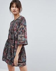 D.Ra Kenzie Printed Shift Dress Asian Kaleid Red