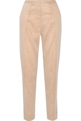 By Malene Birger Anisea Linen Blend Tapered Pants Nude