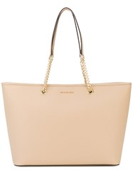 Michael Michael Kors Jet Set Tote Women Calf Leather One Size Nude Neutrals