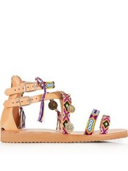 Mabu By Maria Bk Naysabin Embellished Gladiator Sandals Multi