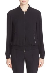 Lafayette 148 New York Women's Bryant Finesse Crepe Bomber Jacket