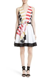 Milly Women's Lola Nautical Abstract Print Fit And Flare Dress