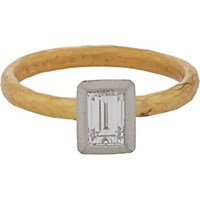 Malcolm Betts Diamond Platinum And Gold Solitaire Ring