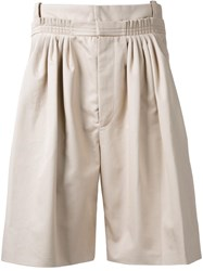 J.W.Anderson Pleated Bermuda Shorts Nude Neutrals