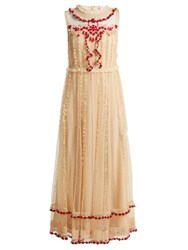 Red Valentino Ruffle Trimmed Lace Dress Ivory