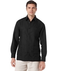 Cubavera Shirt Long Sleeve Guayabera Shirt Jet Black