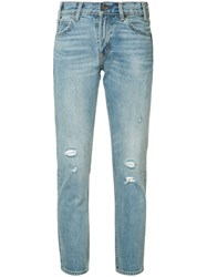 Levi's Distressed Cropped Jeans Blue