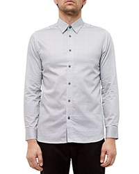 Ted Baker Dome Printed Regular Fit Button Down Shirt Gray