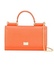 Dolce And Gabbana Mini 'Von' Wallet Crossbody Bag Yellow And Orange