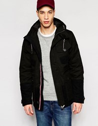 Puffa Aiden Hooded Jacket Bark Black