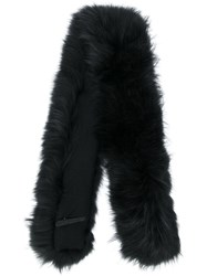 Max And Moi Long Fur Collar Black