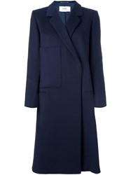 Ports 1961 Double Breasted Coat Blue