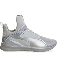 Puma Fierce High Top Trainers Grey Silver Quilt