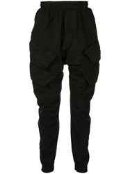 Julius Tapered Leg Cargo Trousers Black