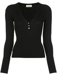 Nicholas Ribbed Jersey Long Sleeve Top 60