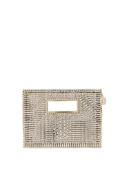 Rosantica By Michela Panero Iside Crystal Clutch Bag Clear