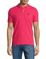 Selected Embroidered Logo Polo Rose Red