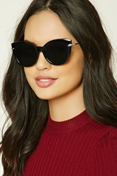 Forever 21 Cat Eye Sunglasses Black Grey