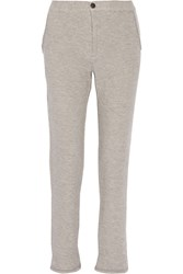 Current Elliott The Trouser Cotton Blend Terry Sweatpants Gray