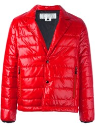 Ganryu Comme Des Garcons Notch Lapel Padded Jacket Red