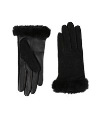 Ugg Shorty Smart Fabric Gloves W Short Pile Trim Black Multi Extreme Cold Weather Gloves