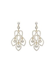 Mikey Twisted Wire Design Crystal Earring