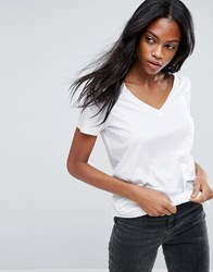 Asos The Ultimate V Neck Slouchy T Shirt White