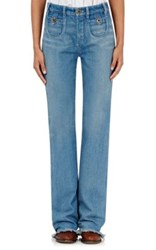 Chloe Women's Flared Jeans Blue