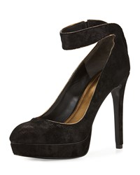 Pour La Victoire Avi Platform Pump With Ankle Strap Black