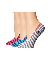 Sperry Skimmer Liners 3 Pack Pink Neon Assorted Women's No Show Socks Shoes Multi