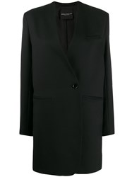 Erika Cavallini Double Breasted Fitted Coat Black