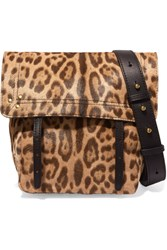 Jerome Dreyfuss Jeremie Small Leopard Print Calf Hair And Leather Shoulder Bag Leopard Print