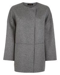 Jaeger Double Faced Wool Cape Grey