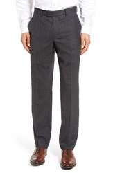 Nordstrom Men's Men's Shop Flat Front Wool Trousers
