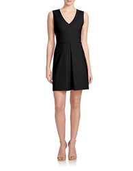 1.State Cutout Back Fit And Flare Dress Black