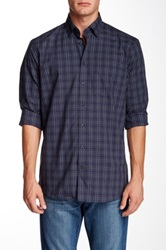 Toscano Plaid Regular Fit Long Sleeve Shirt Blue
