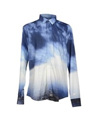 Bikkembergs Shirts Shirts Men Blue
