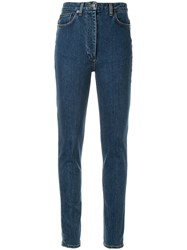 The Row Kate Skinny Jeans Blue