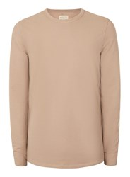 Selected Homme Dusty Pink Exposed Seam Long Sleeve T Shirt