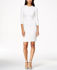 Calvin Klein Crew Neck Cable Knit Sweater Dress