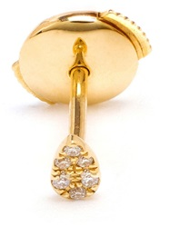 Yvonne Leon Yvonne Leon 18Kt Gold And Pave Diamond Stud Earring