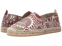 Etro Paisley Espadrille Burgundy Paisley Men's Slip On Shoes Red