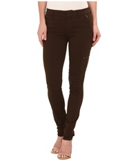 Level 99 Liza Mid Rise Skinny Trousers In Basin Basin Women's Jeans Brown