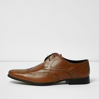 River Island Menstan Leather Smart Brogues