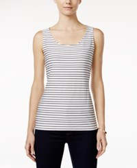 Charter Club Textured Striped Tank Top Only At Macy's Cloud